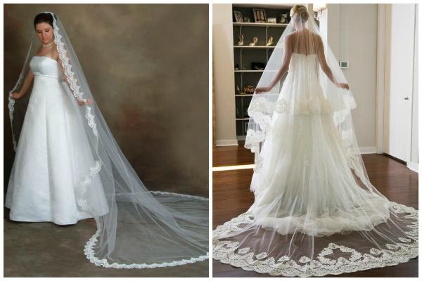 Vestidos de novia velo largo
