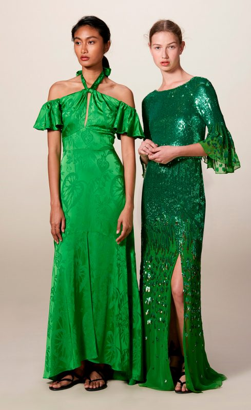 Vestidos verdes de fiesta de Temperly London.