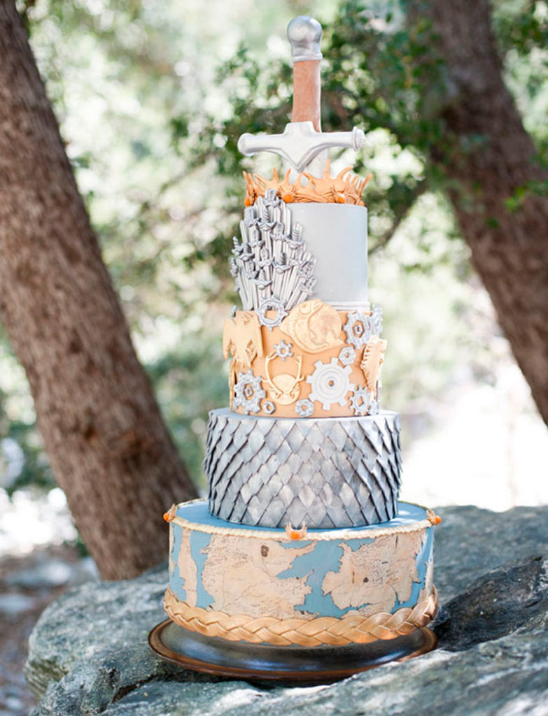 Pastel de bodas inspirado en Game of Thrones.